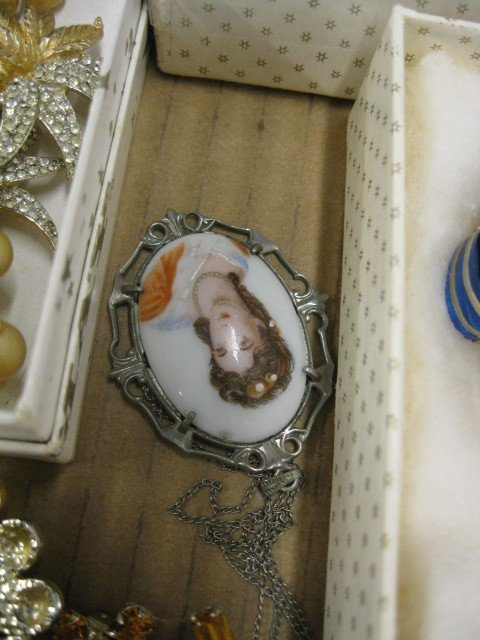 148A: Lot of Costume Jewelry, includes ivory, - 5