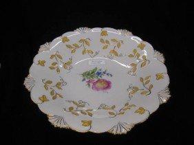 Meissen Porcelain Centerpiece Bowl, Handpainted Fl
