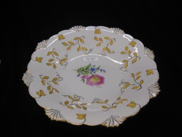 503: Meissen Porcelain Centerpiece Bowl, handpainted fl