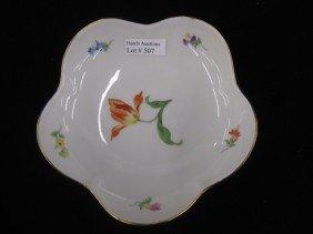 507: Meissen Porcelain Dish, floral sprays inside with