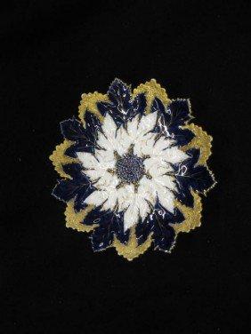 508: Meissen Porcelain Figural Floraform Dish, elaborat