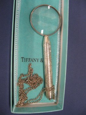 510B: Tiffany Sterling Silver Pendant Magnifying Glass,