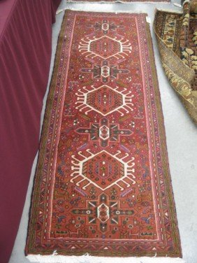 515: Antique Persian Handmade Rug, stylized floral and