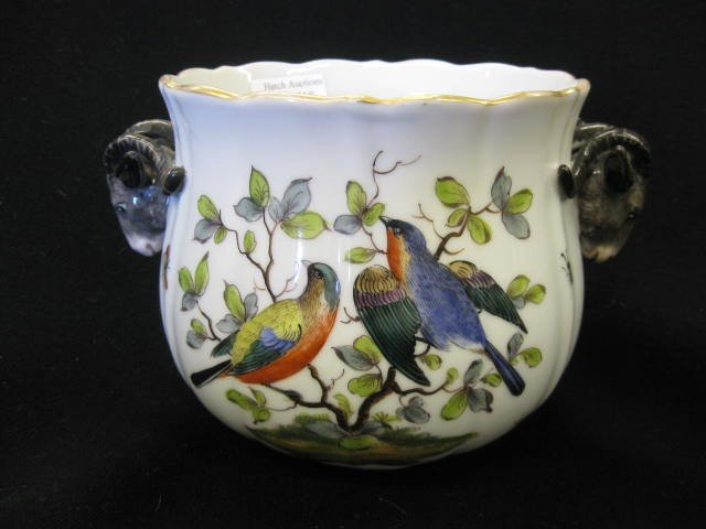 518: Augustus Rex Meissen Porcelain Cache Pot,