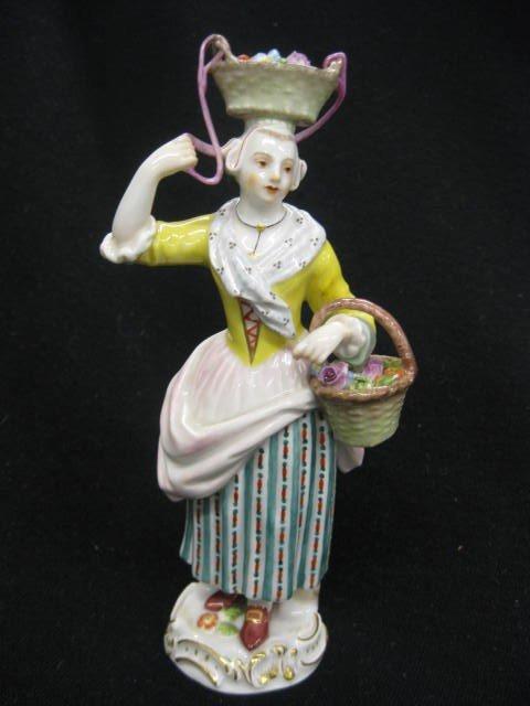 576: Meissen Porcelain Figurine of Flower Seller lady,