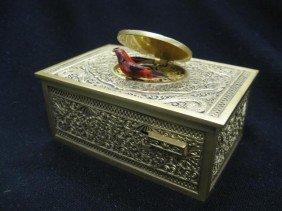 588: Bronze Singing Bird Mechanical Music Box, elaborat