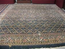 635: Mahal Persian Handmade Room Size Rug, semi-antique