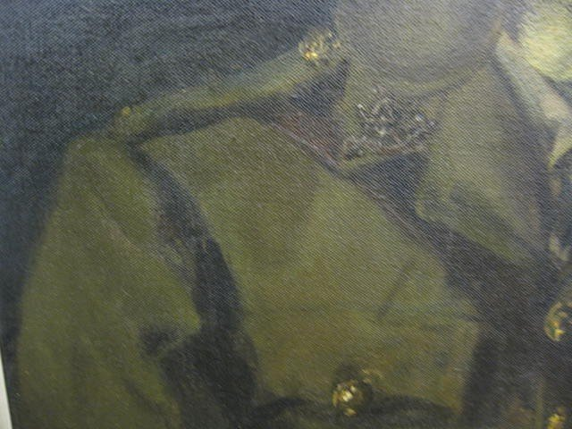 752: Clare Atwood, Oil, Beagle in military uniform, - 7