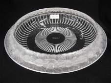 1004 Lalique Crystal Marguerite Centerpiece Bowl fr