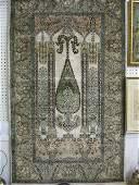 1135: Silk Mahal Persian Handmade Prayer Rug,