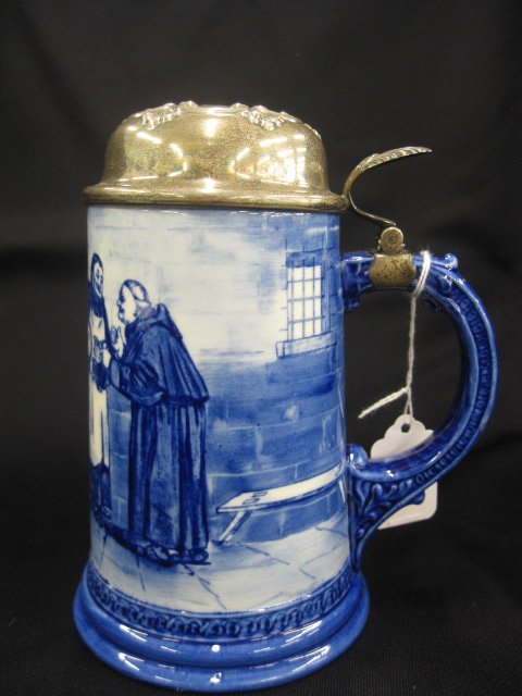 4: Lenox Belleek Handpainted Porcelain Stein,