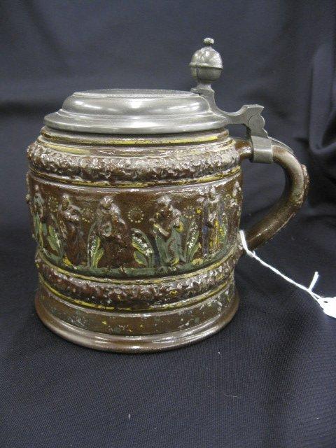 7A: Kreussen Style Apostle Stein, pottery,