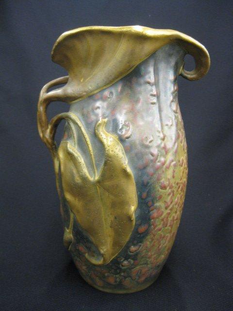 15: Austria Amphora Pottery Vase, Art Nouveau