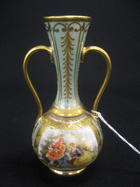 502: Dresden Porcelain Bud Vase, handpainted