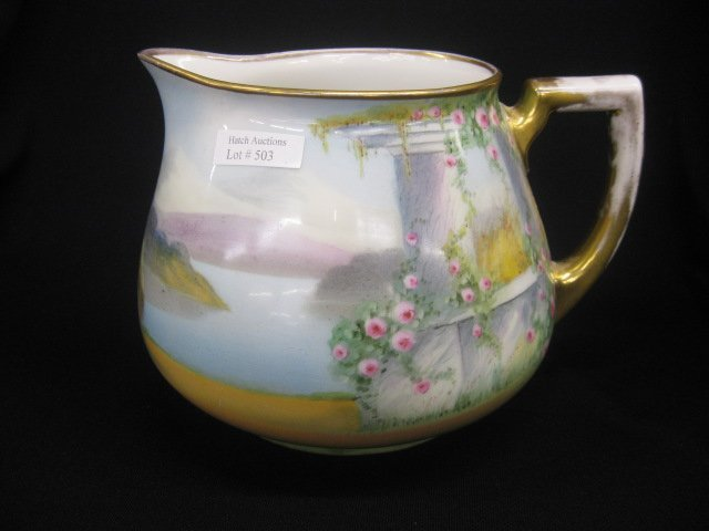 503: Pickard Handpainted Porcelain Cider Pitcher,