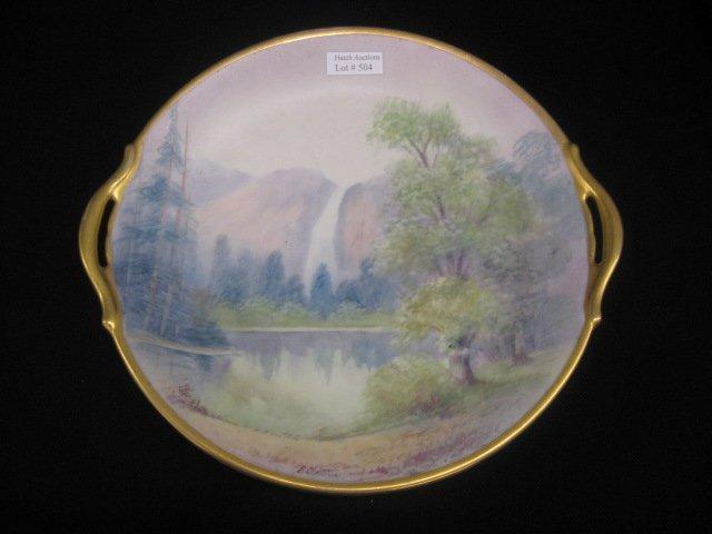 504: Pickard Handpainted China Cake Plate, vellum,
