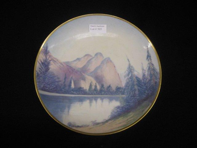 505: Pickard Handpainted China Plate, vellum, Western