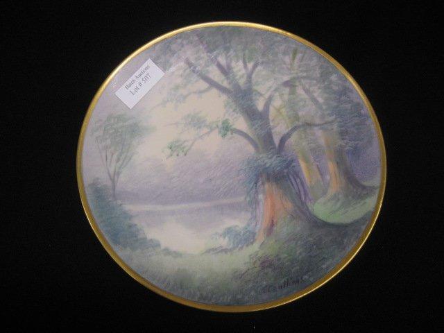 507: Pickard Handpainted China Plate, vellum,