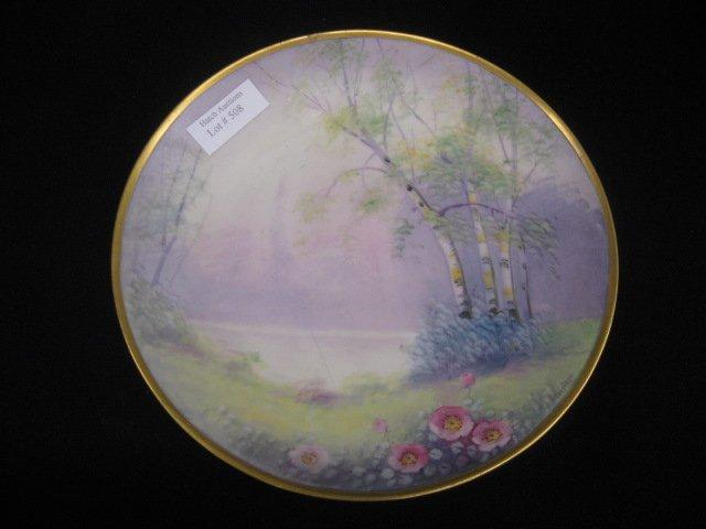508: Pickard Handpainted China Plate, vellum,