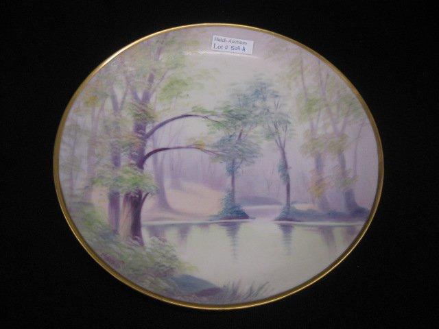 509A: Pickard Handpainted China Plate, vellum,