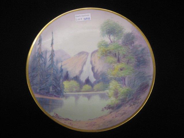 509B: Pickard Handpainted China Plate, vellum,