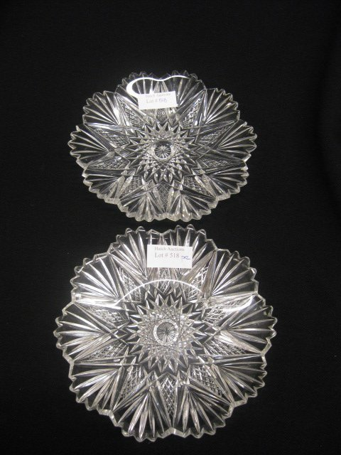518: Pair of Cut Glass Dishes, brilliant period,