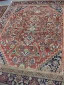 695: Mahal Persian Handmade Room Size Rug,