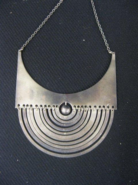 990A: Scandinavian Sterling Silver Designer Necklace,