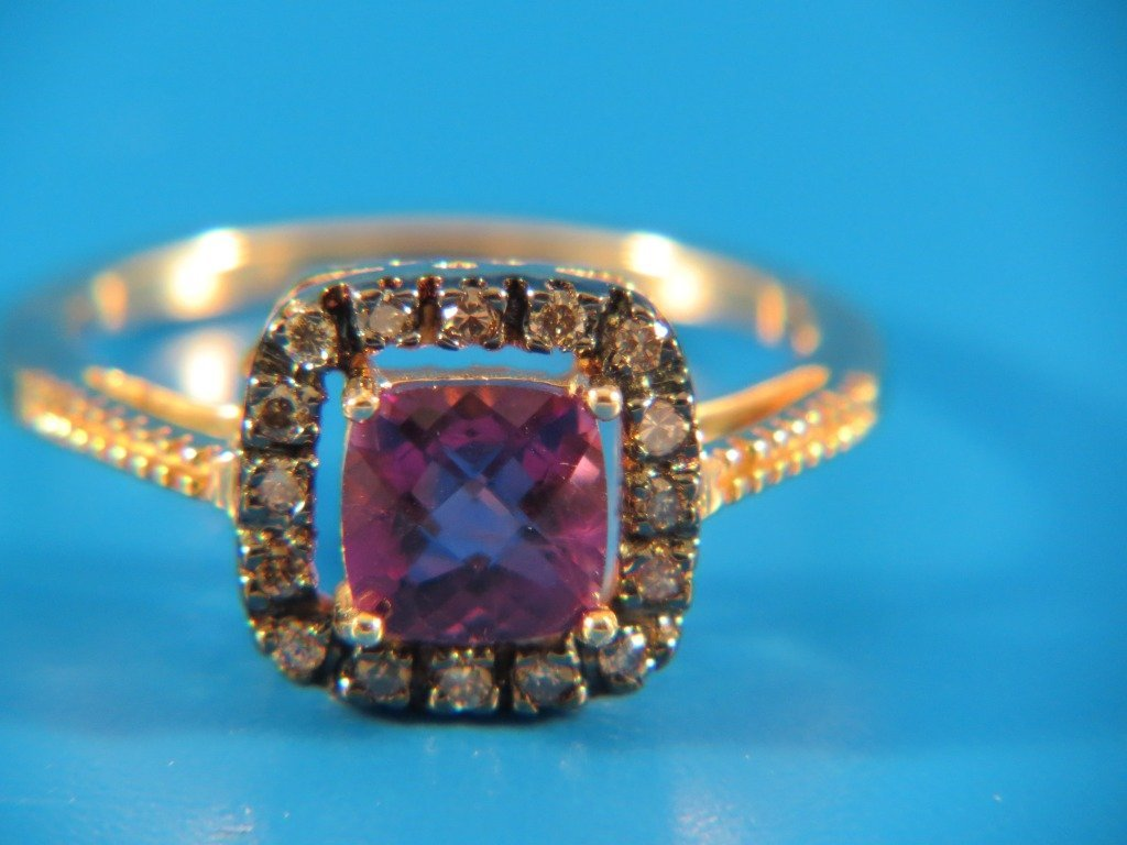 10B: Amethyst & Diamond Ring,