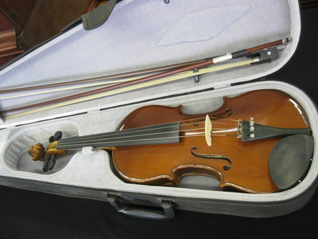 65B: H. Siegler Violin, with bow and case,