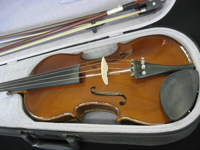 65B: H. Siegler Violin, with bow and case, - 2