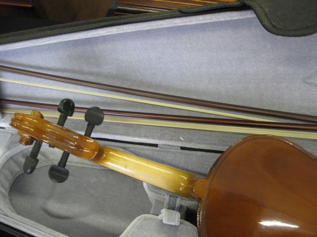 65B: H. Siegler Violin, with bow and case, - 5
