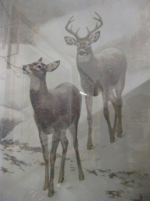 "412: Edward J. Bierly, Lithograph, ""Winter Woods"", - 2"