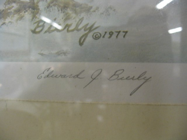 "412: Edward J. Bierly, Lithograph, ""Winter Woods"", - 3"
