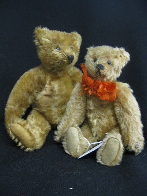 466A: 2 Antique Teddy Bears,
