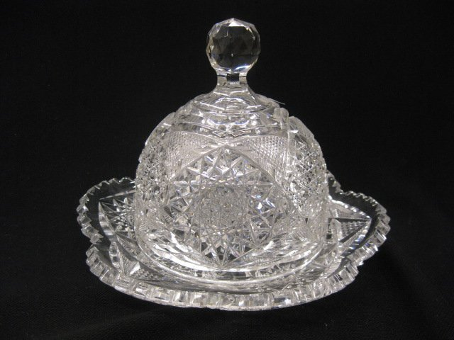 519: Cut Glass Covered Butter Dish,