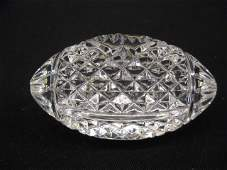 1122: Waterford Cut Crystal Football Paperweight,