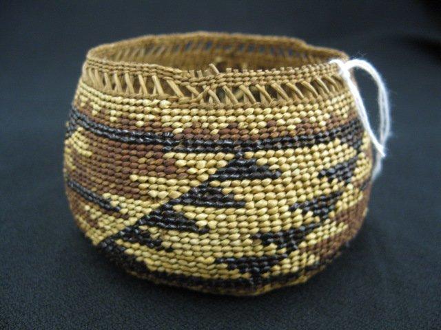 1: Antique Indian Basket, - 2