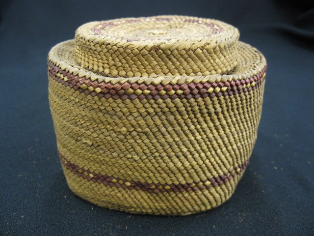 5: Antique Indian Covered Basket,