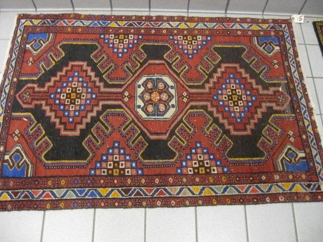 15: Hamadan Persian Handmade Rug,