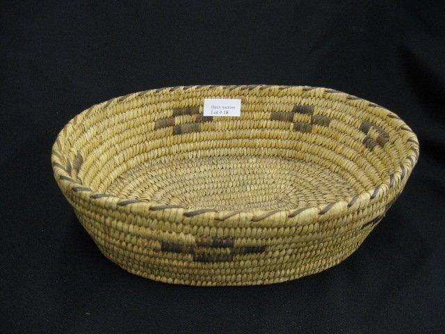 """18: Indian """"Rattlesnake"""" Basket,"""