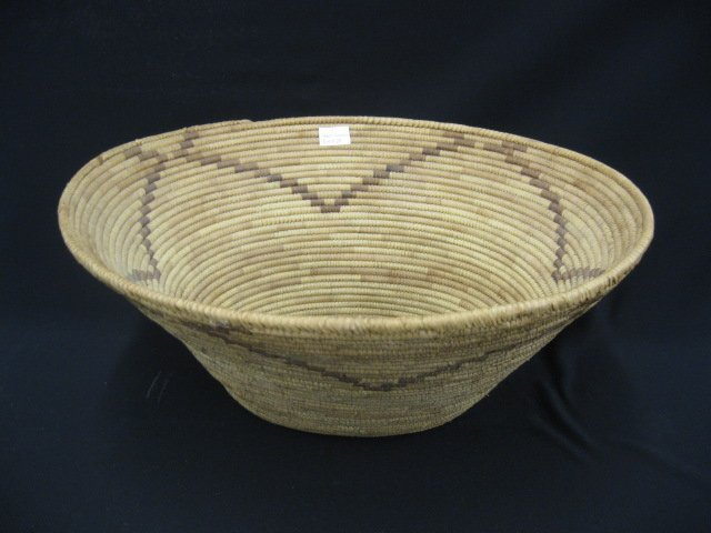 20: Papago Indian Oval Basket, decorated,