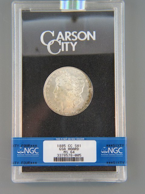 210C: 1885 Carson City Morgan Silver Dollar,