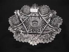 Brilliant Period Cut Glass Dish,