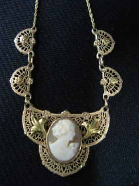 Cameo Necklace,
