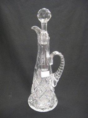 Brilliant Period Cut Glass Decanter,