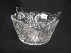 Clark Cut Glass Ice Bucket,