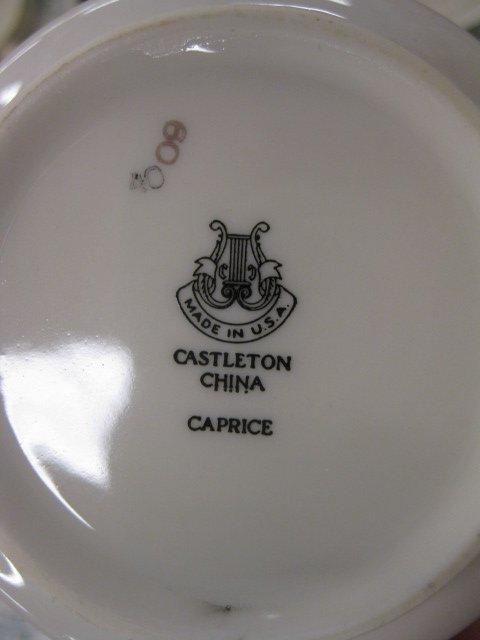 "557: 111 pc. Castleton China ""Caprice"" Dinner - 7"