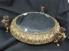 881 Ornate Brass Plateau