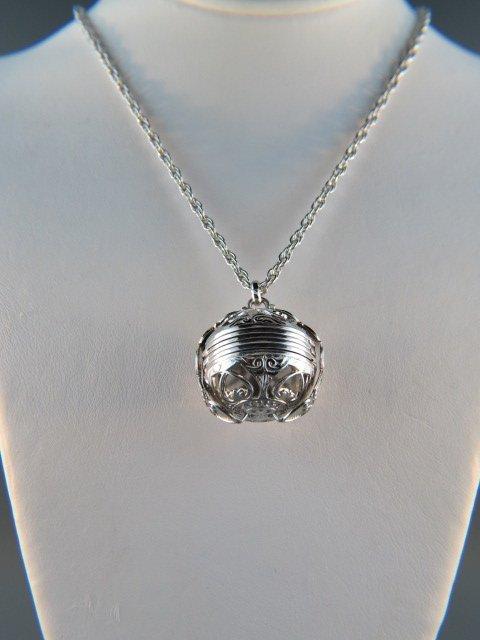 Sterling Silver Ball Shaped Locket,